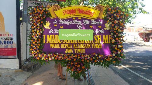 jual bunga wedding surabaya, bunga papan wedding surabaya,  papan bunga pernikahan surabaya