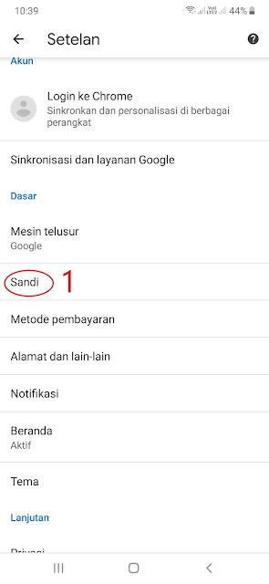 Cara Mengakses Kata Sandi yang Disimpan di Browser Chrome Android