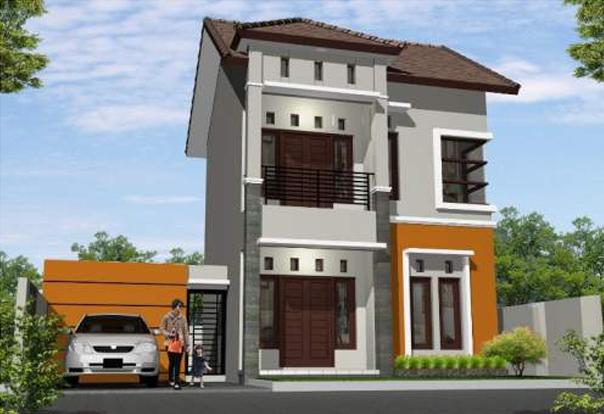 Desain Rumah Sederhana Dua Lantai