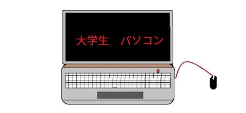 大学生のパソコンイメージ