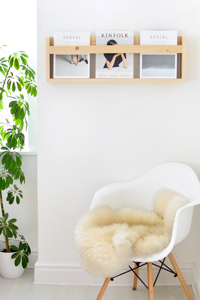 diy modern magazine shelf burkatron