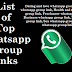 List of top whatsapp group invite links