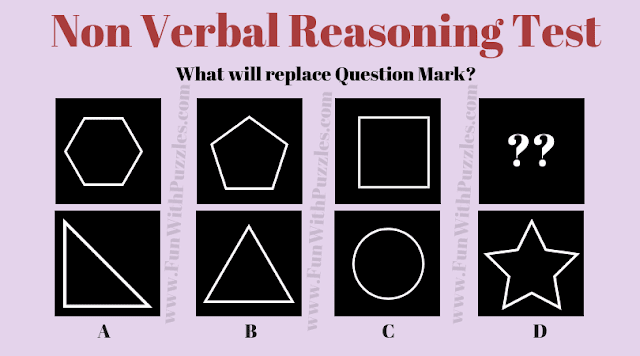 In this Non-Verbal Reasoning Puzzle, your challenge is to find the next picture in the series which will replace the question mark