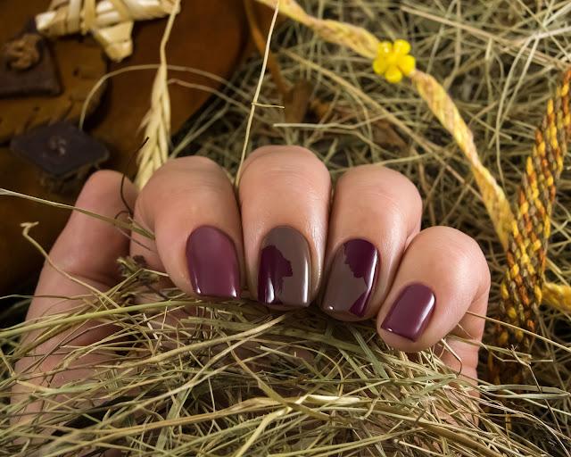 Old Chestnut и Dusty Cedar bio polish naillook