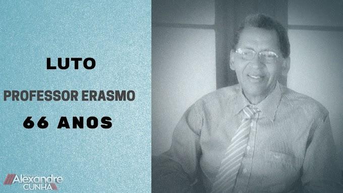 LUTO: Comerciante e professor Erasmo morre aos 66 anos de idade