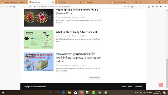 Fastest Premium Blogger Theme Footer Screenshot