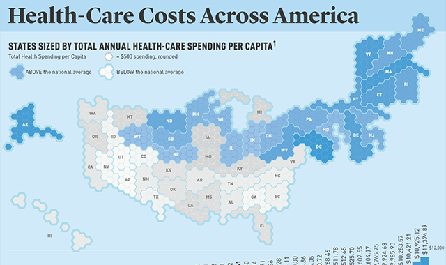 his Graph Shows Health Care Costs Across America #infographic
