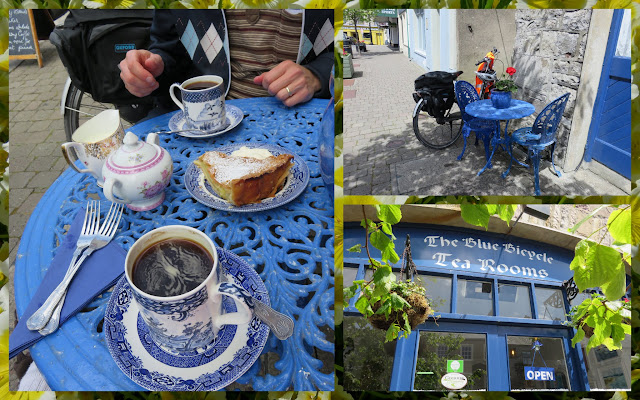 Cycling the Great Western Greenway - County Mayo, Ireland - Cake and Coffee at the Blue Bicycle Tea Rooms in Newport Town