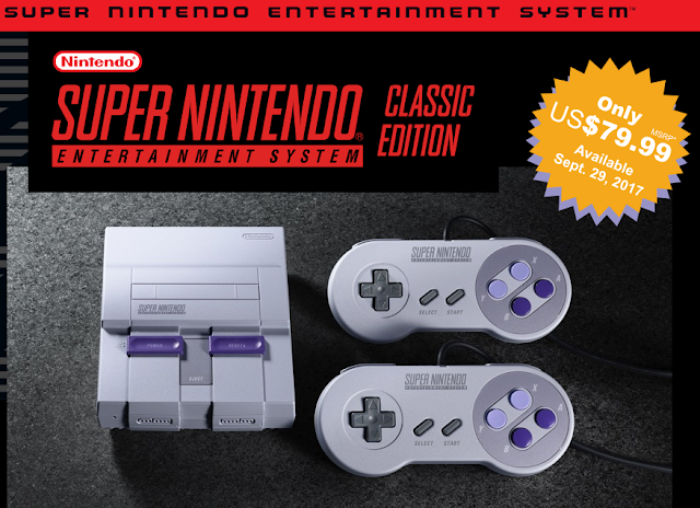 Super Nintendo Entertainment System SNES Classic Edition United States MSRP system controllers look price release date September