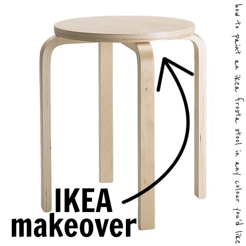 Magnificent Fatfancy Diy How To Paint Ikeas Frosta Stool In Any Colour Ncnpc Chair Design For Home Ncnpcorg