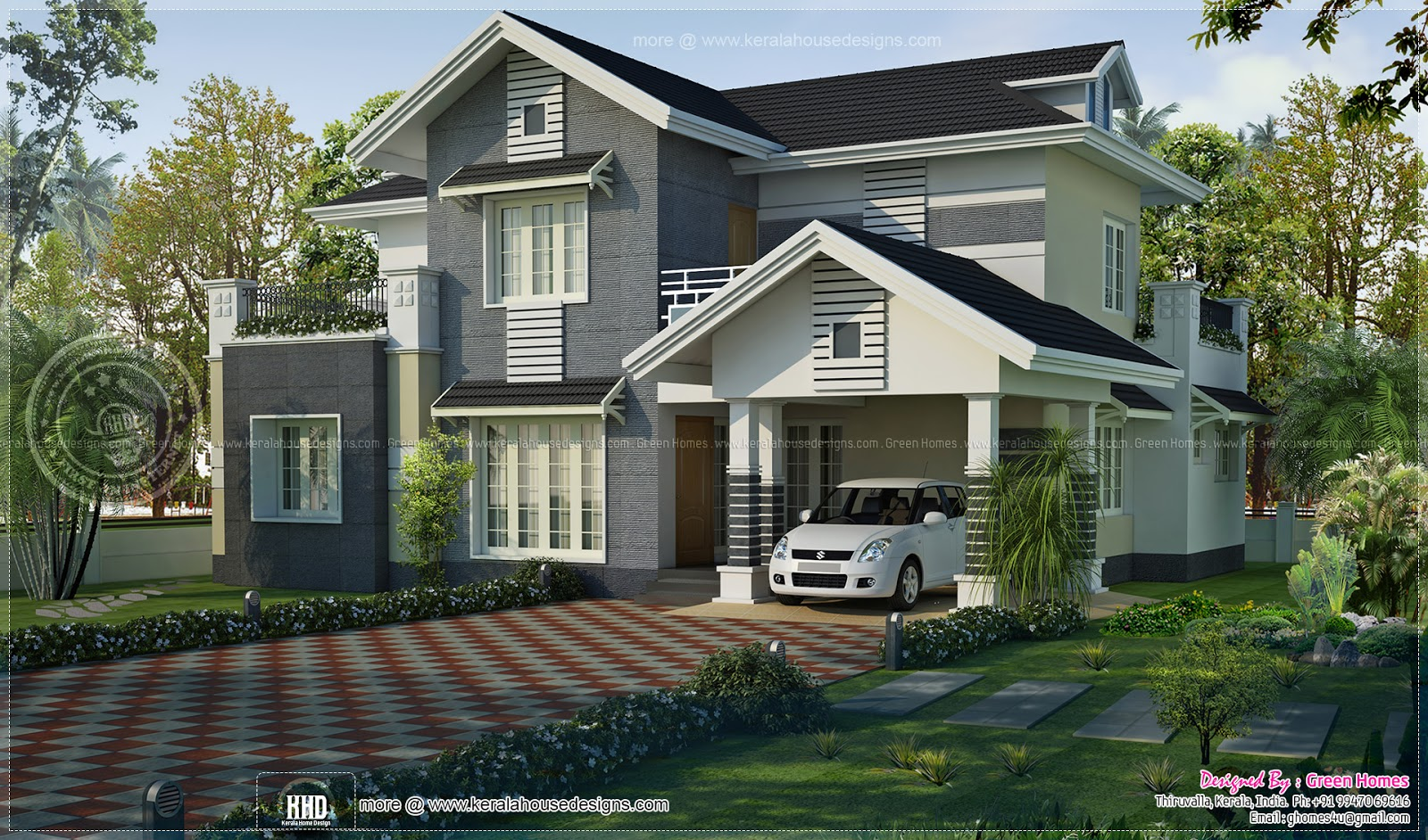 August 2013 kerala home design and floor plans for Transitional house plans