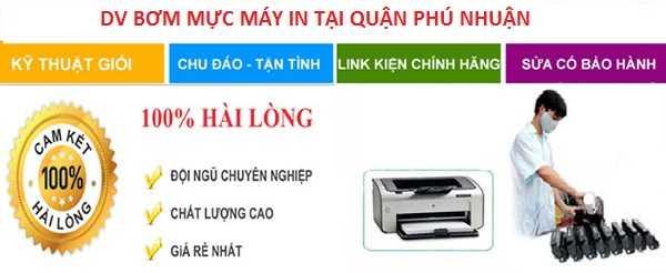 Bơm mực máy in tại Phú Nhuận - nhanh uy tín nhất