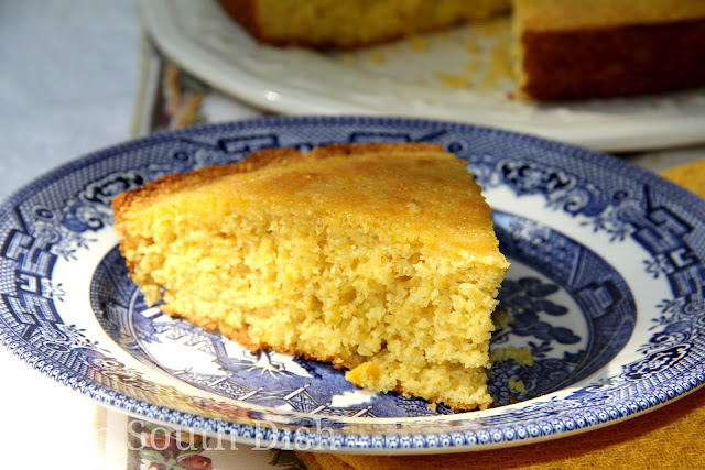 Cornbread made with buttermilk, sour cream and creamed corn.