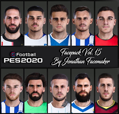 PES 2020 Facepack Vol 15 by Jonathan Facemaker
