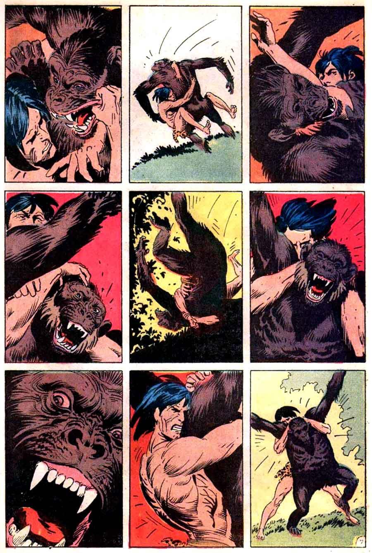 Tarzan v1 #209 dc comic book page art by Joe Kubert