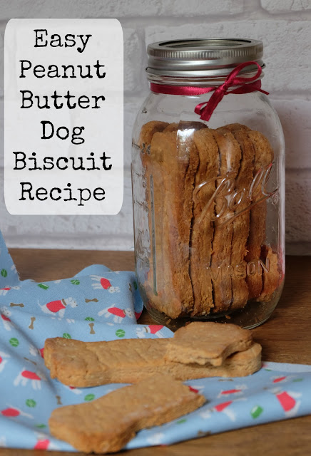 Homemade Dog Treats - Peanut Butter Biscuits
