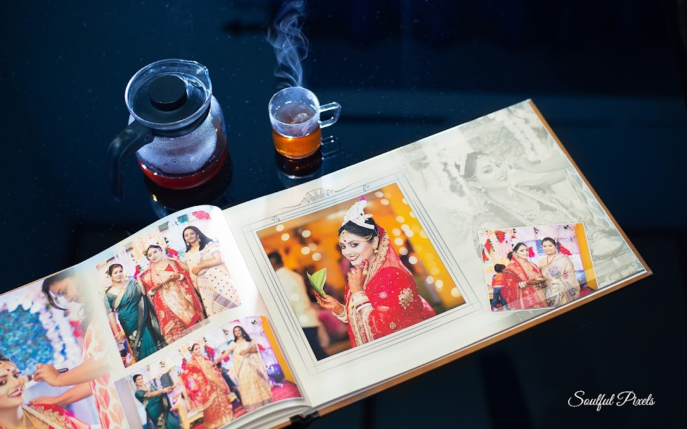 PhotoBook Album on A Table