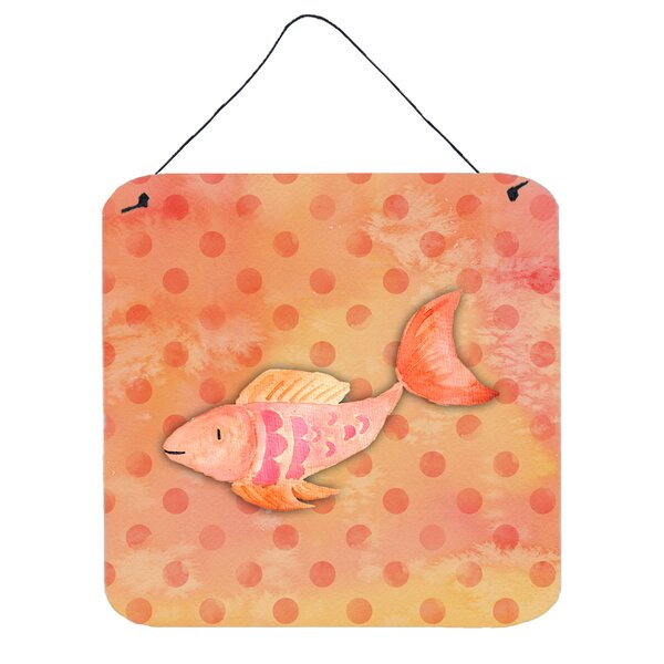 Fish Orange Aluminum Wall Decor