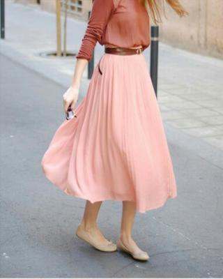falda midi tumblr