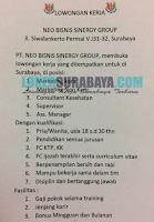 Lowongan Kerja Surabaya di Neo Bisnis Sinergy Group Januari 2020
