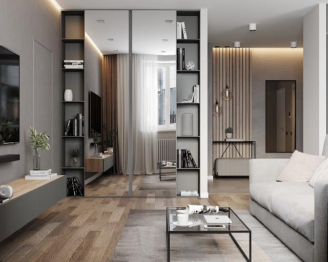 Thiết kế và thi công hoàn thiện nội thất căn hộ chung cư Sunshine Diamond River Quận 7 - Phòng khách