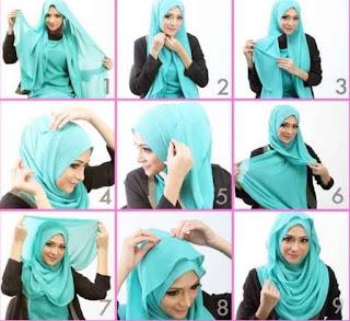 Tutorial hijab segi empat pipi tembem untuk lebaran