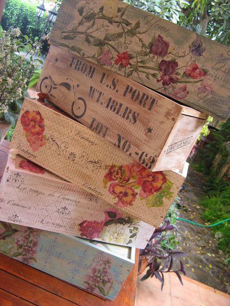 Dolce Hogar Decorar Con Cajas De Madera - Como-decorar-madera