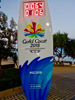Commonwealth Games 2018 Surfboard Countdown Clock