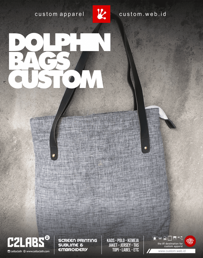 Dolphin Bag Custom Bordir Konveksi Tas Jogja