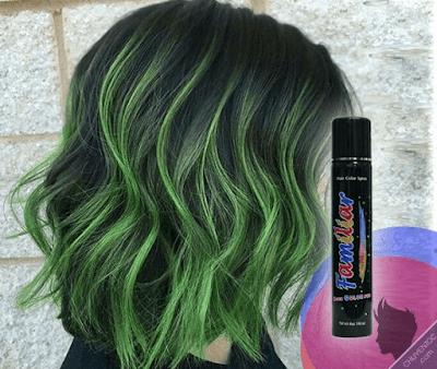 Hình ảnh keo xịt tóc màu familiar hair color blue ( xanh lá )