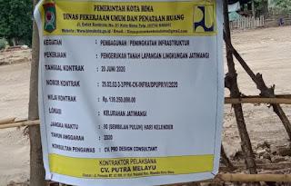 Sejumlah Item Proyek Mulai Dikerjakan di Kelurahan Jatiwangi