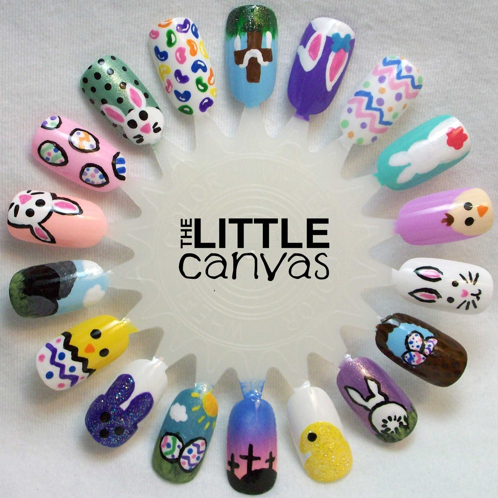 The One With the Easter Nail Art Wheel - The Little Canvas
