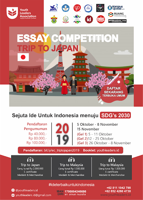 ESSAY COMPETITION TRIP TO JAPAN 2019 Oleh Youth Leaders Association (Fully Funded)