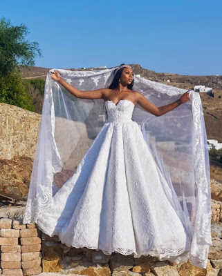 Stunning Photos Of TV Girl Stephanie Cooker And Beau As They Tie The Knot In Greek