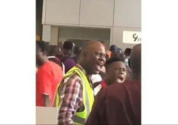 Commotion Erupts at Lagos Airport as NLC Attempts to Shut Down Operations,  Official Resists