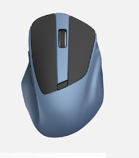mouse wireless senza fili ergonomica an-216 andowl