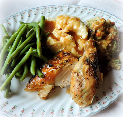 Roast Chicken with Lemon & Garic