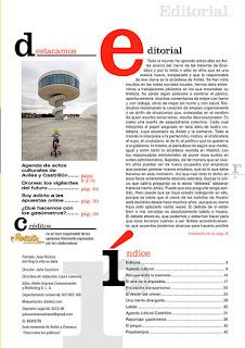 imagen de la maquetación del editorial de Julio Carretero