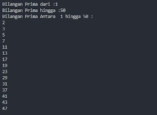 Output Bilangan Prima Python
