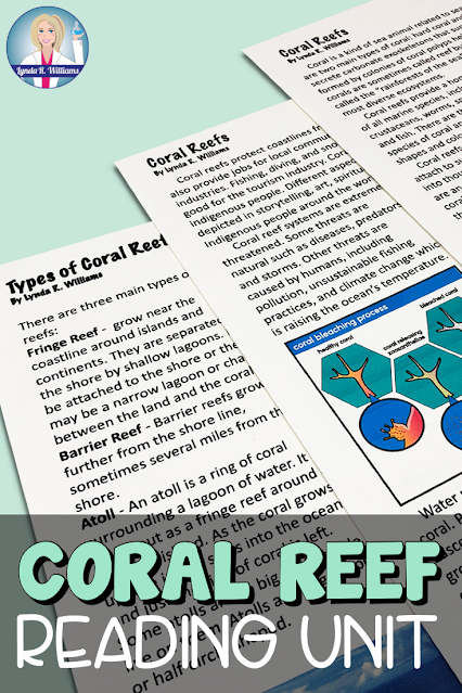 Coral Reef Reading Unit
