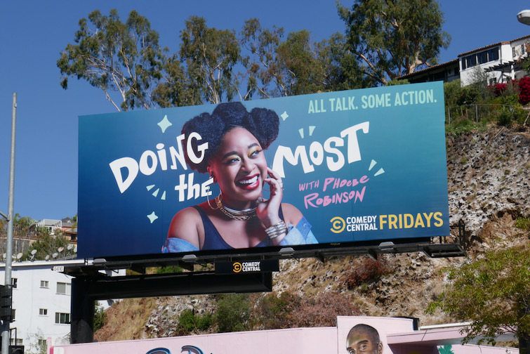 Doing the Most series launch billboard