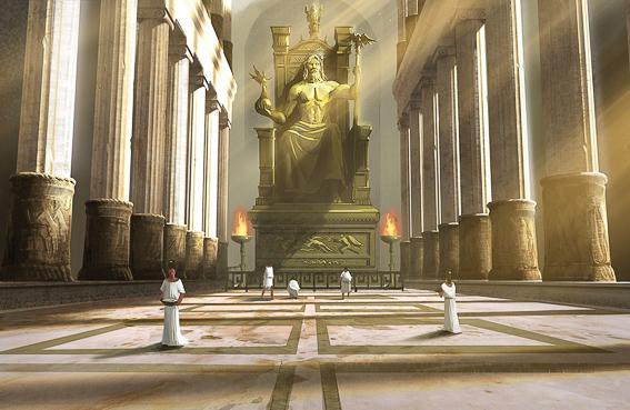 Estatua de Zeus. Las 7 Maravillas del mundo antiguo