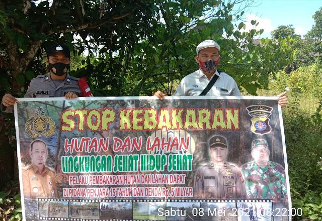 Wujudkan 4 Fokus Polda Kalteng, Briptu Juni Hermanto Sosialisasikan Larangan Karhutla