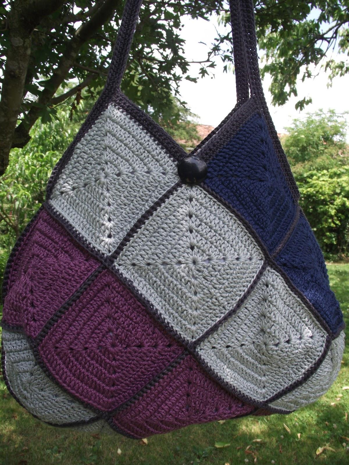 sac en carrés de crochet