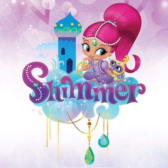 Shimmer y Shine: Imágenes para Stickers, Toppers y Decoraciones para Fiesta para Imprimir Gratis.