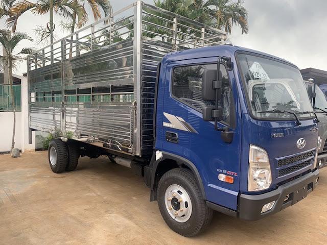 Hyundai EX8 GTL thùng chở gia súc lợn heo