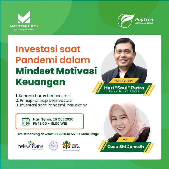 """Bincang Syariah Investasi 'Investasi Saat Pandemi dalam Mindset Motivasi Keuangan"""""""