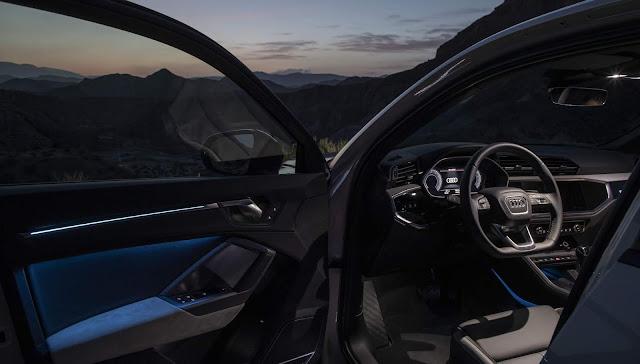 Audi Q3 Sportback 45 TFSI quattro S line - iluminação ambiente traseira