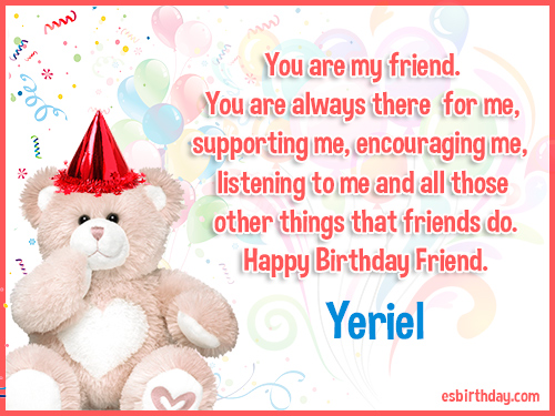 Yeriel Happy birthday friends always