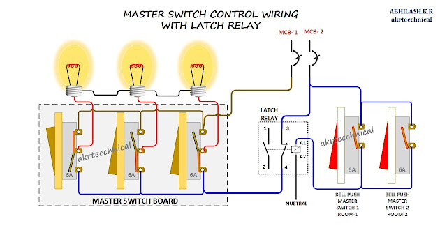 Master Control with Latching Relay Connection Diagram on network switch diagram, 3-way switch diagram, switch circuit diagram, electrical outlets diagram, switch outlets diagram, switch battery diagram, rocker switch diagram, wall switch diagram, relay switch diagram, switch starter diagram, switch socket diagram, switch lights,